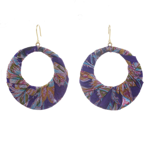 Mandala Sari Earrings