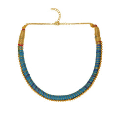 Shobhana Gold Bead Nilgiri Necklace