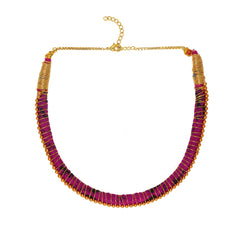 Sobhana Gold Bead Nilgiri Necklace