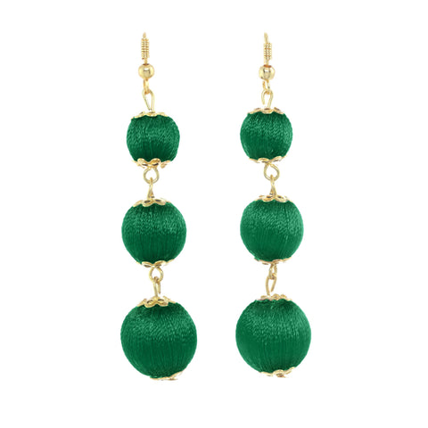 Classic Ball Drop Earrings Emerald