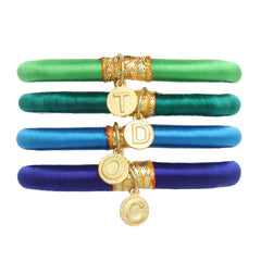 Personalized Charm Bangles: Blue/Green