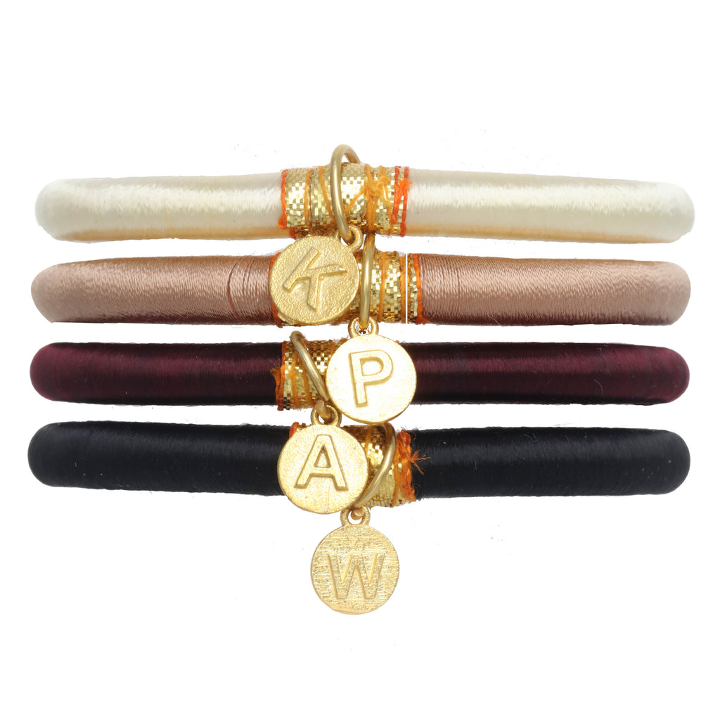 Personalized Charm Bangles: Neutral