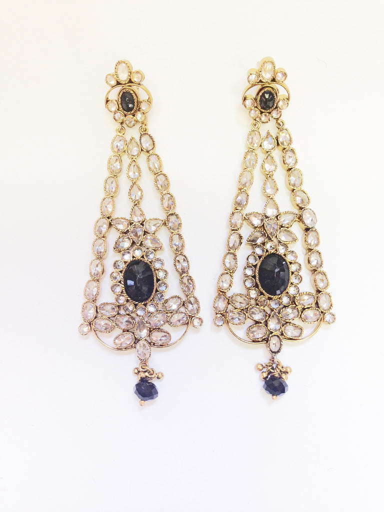 Triangle Shaped Chandelier Earrings