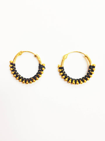 Dainty Gold Wrapped Earrings