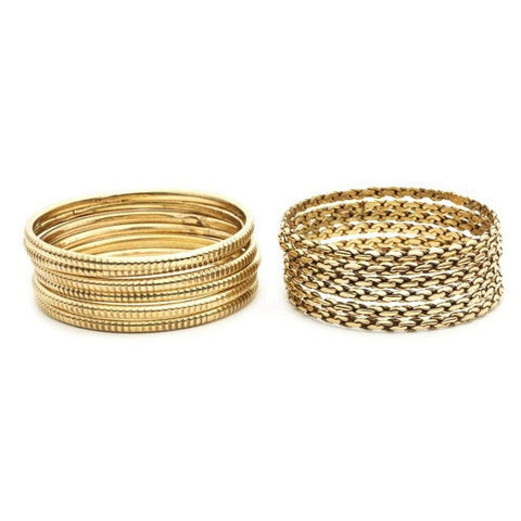 Pyaar Braid and Ridge Bangles