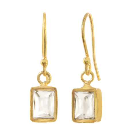 Chamak Square Drop Earrings