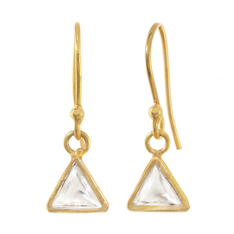 Chamak Triangle Drop Earrings