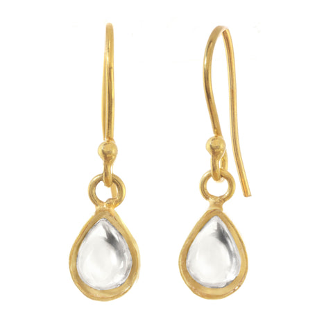 Chamak Tear Drop Earrings