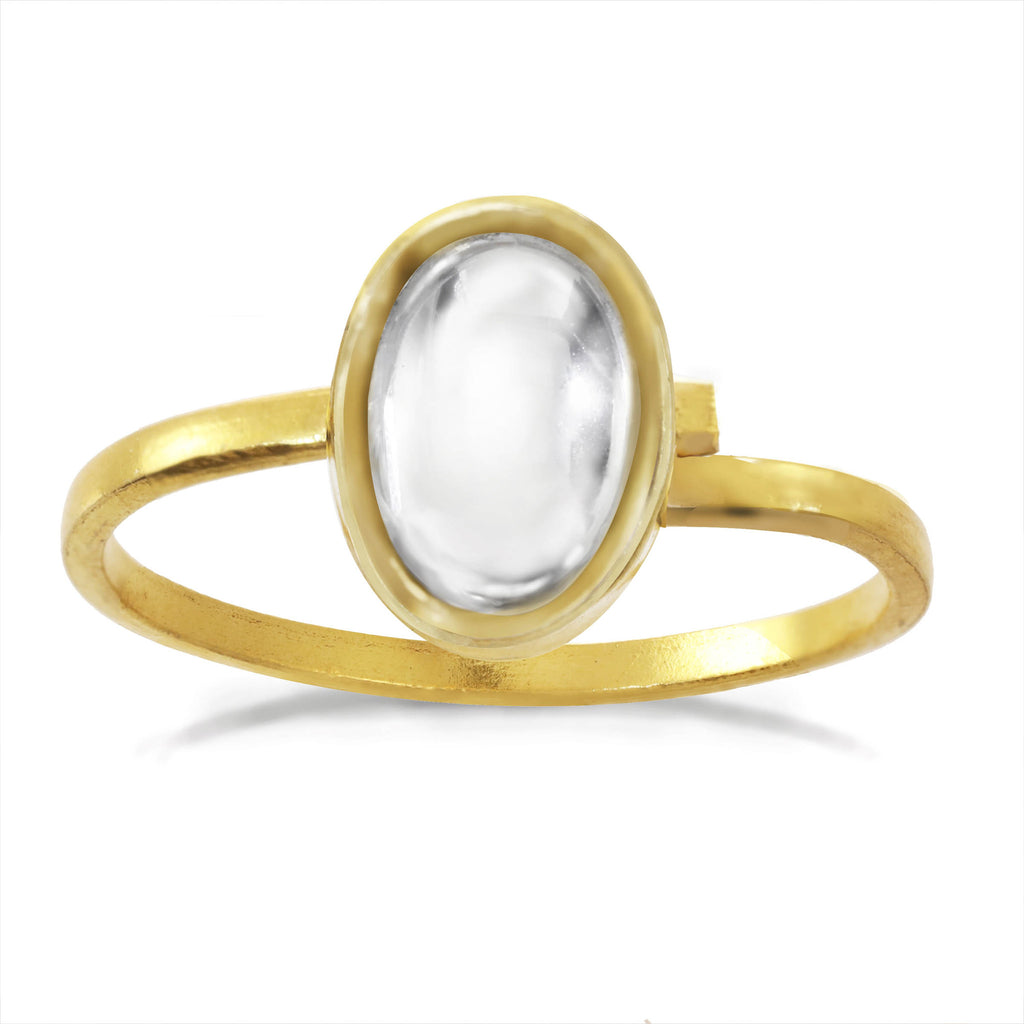 Chamak Oval Ring