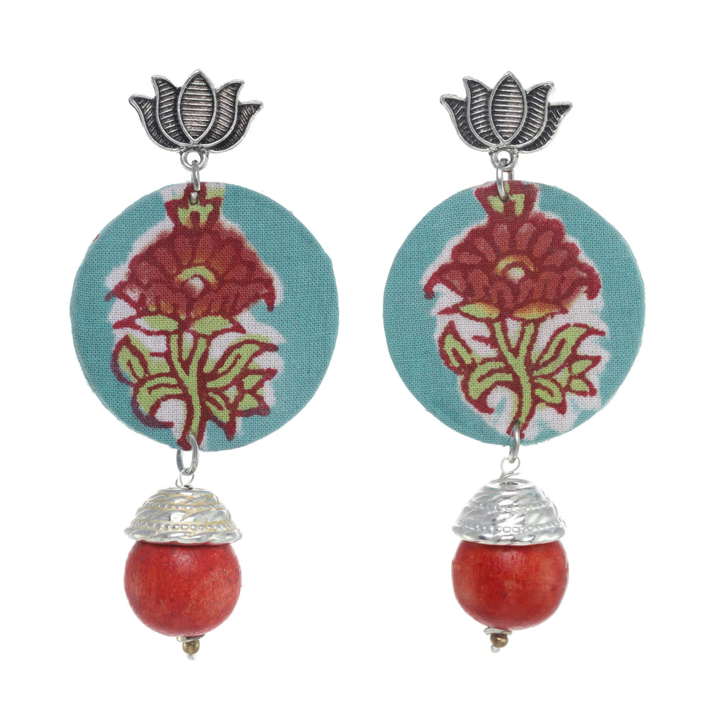Raabta Floral Detail Earrings