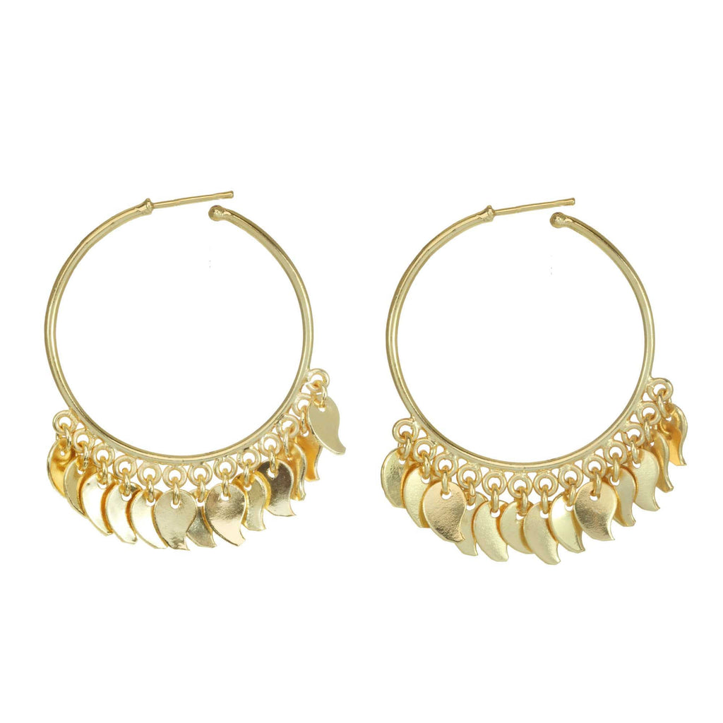 Paisley Leaf Hoops