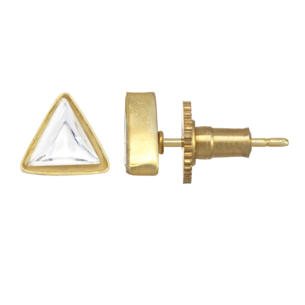 Chamak Triangle Stud Earrings