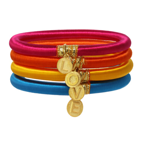 Personalized Charm Bangles: Bright