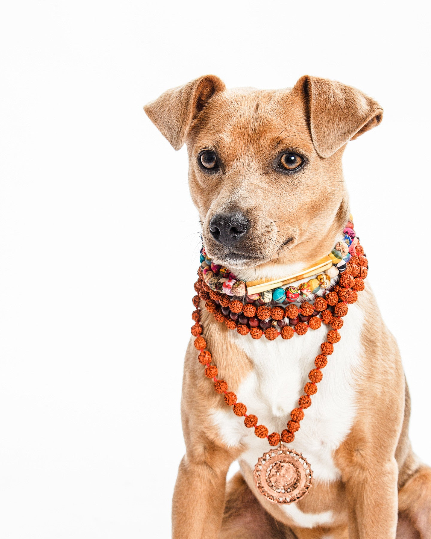 Jimmy Chew the Zen Master in our vintage Rudraksha Bead Necklace