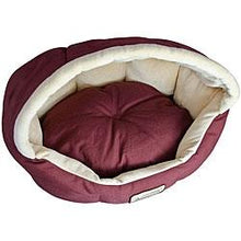 Load image into Gallery viewer, 18-inch Burgundy & Beige Small Dog & Cat Bed by Armarkat