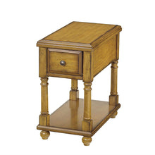 Load image into Gallery viewer, Vintage Style Light Brown Wood 1-Drawer End Table Nightstand