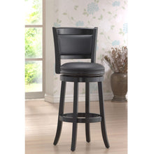 Load image into Gallery viewer, Black 29-inch Swivel Seat Barstool with Faux Leather Cushion Seat