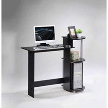 Load image into Gallery viewer, Contemporary Computer Desk in Black and Grey Finish