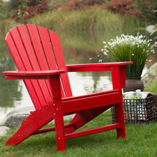 Load image into Gallery viewer, Outdoor Patio Seating Garden Adirondack Chair in Red Heavy Duty Resin