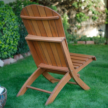 Load image into Gallery viewer, Outdoor Patio Armless Hardwood Adirondack Chair with Brown Wood Stain