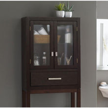 Load image into Gallery viewer, Espresso Modern Bathroom Over the Toilet Space Saver Cabinet