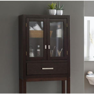 Espresso Modern Bathroom Over the Toilet Space Saver Cabinet
