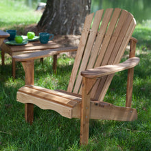 Load image into Gallery viewer, Solid Oak Wood Adirondack Chair with Linseed Oil Finish