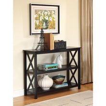 Load image into Gallery viewer, 3-Tier Black Sofa Table Bookcase Living Room Shelves