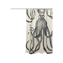 Load image into Gallery viewer, Medium Weight 100% Cotton Silk Screen Vintage Octopus Shower Curtain