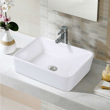 Load image into Gallery viewer, Modern 19-inch Rectangular Ceramic Vessel Basin Bathroom Sink