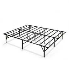 Load image into Gallery viewer, Queen size Sturdy Black Metal Platform Bed Frame