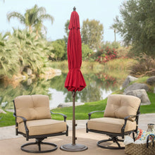 Load image into Gallery viewer, Outdoor 9-Ft Tilt Patio Umbrella with Antique Bronze Pole and Red Canopy