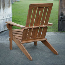 Load image into Gallery viewer, Outdoor Hardwood Square-Back Adirondack Chair with Oversized Contoured Seat