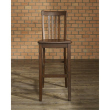 Load image into Gallery viewer, Set of 2 - Solid Hardwood 30-inch Bar Stools in Wood Mahogany Finish