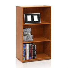 Load image into Gallery viewer, Modern 3-Shelf Bookcase in Light Cherry Wood Finish