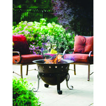 Load image into Gallery viewer, Moon Stars Heavy Duty Cast Iron Outdoor Patio Fire Pit Cauldron with Cover