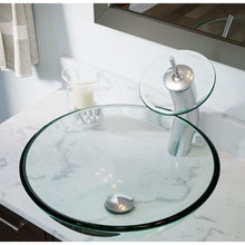 Load image into Gallery viewer, Crystal Clear Tempered Glass Round Bathroom Vessel Sink