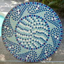 Load image into Gallery viewer, Outdoor 3-Piece Aqua Blue Mosaic Tiles Patio Furniture Bistro Set