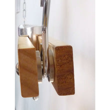 Load image into Gallery viewer, Ceiling Mount Single Bar Wooden Pot Rack with 4 Pan Hooks
