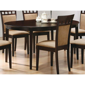 Contemporary Oval Dining Table in Dark Brown Cappuccino Wood Finish