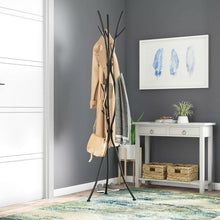Load image into Gallery viewer, Metal Tree Branch Style Coat Rack with Multiple Hooks in Black