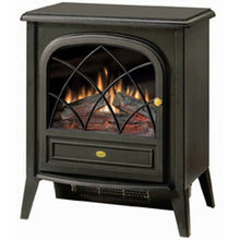 Load image into Gallery viewer, Black Compact Stove Style Electric Fireplace Space Heater with 3D Flame