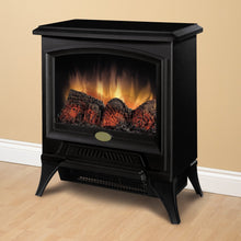 Load image into Gallery viewer, Compact Stove Style Electric Fireplace Space Heater in Black