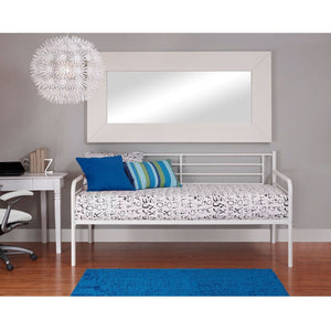 Twin size Contemporary White Metal Daybed Frame
