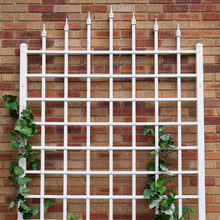 Load image into Gallery viewer, 8 Ft Wall Mounted Trellis in White Vinyl - Made in USA