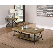 Load image into Gallery viewer, Modern Industrial Style Solid Wood Coffee Table with Steel Legs