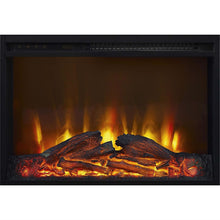 Load image into Gallery viewer, 50-inch TV Stand in Medium Brown Wood with 1,500 Watt Electric Fireplace