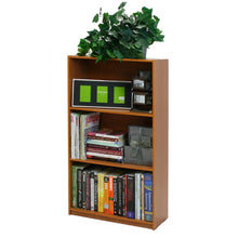 Load image into Gallery viewer, Light Cherry Finish 3-Tier Storage Shelves Bookcase