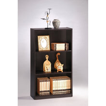 Load image into Gallery viewer, 3-Tier Bookcase Storage Shelves in Espresso Finish