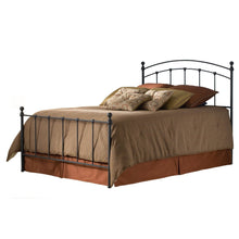 Load image into Gallery viewer, Full size Metal Bed with Headboard and Footboard in Matte Black